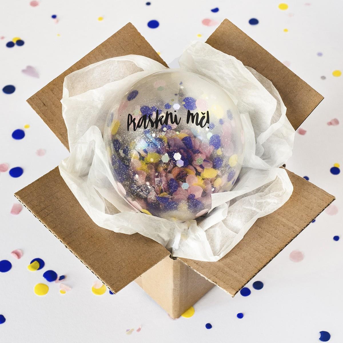 Bablfuk Praskni mě! - balónek s ukrytým vzkazem | Rozvoz květin Plzeň