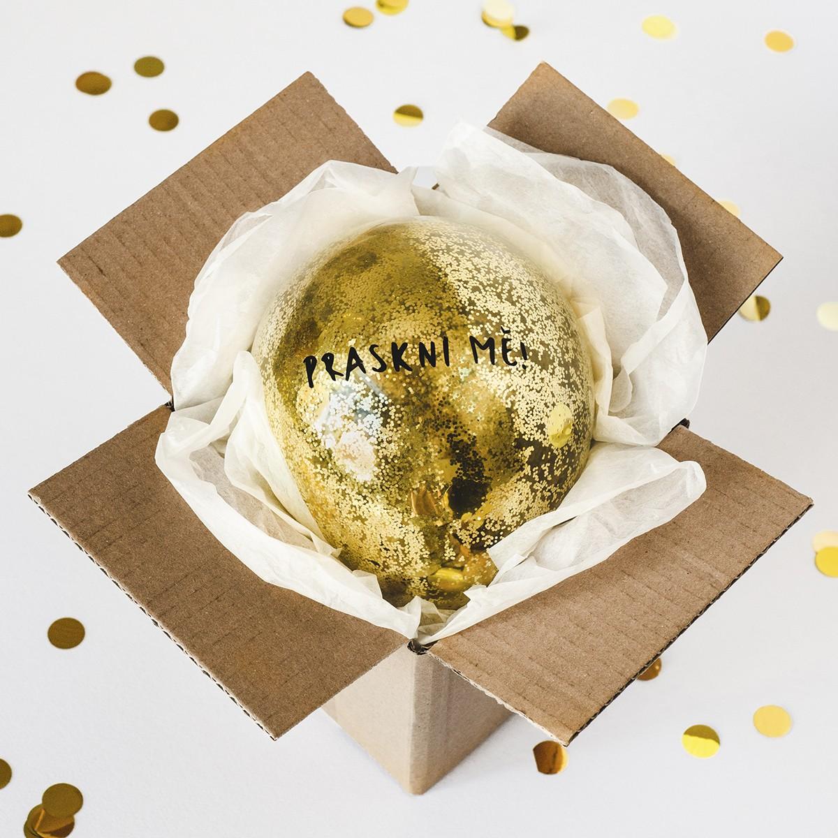 Bablfuk Praskni mě! - balónek s ukrytým vzkazem   Rozvoz květin Plzeň